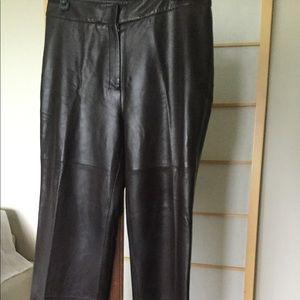 MAX MARA 12 Genuine Leather Pants